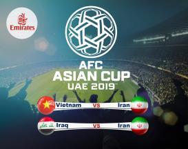 تور 7 روزه ویژه جام ملت های آسیا 2019 ایران ویتنام و ایران عراق با پرواز لوکس امارات