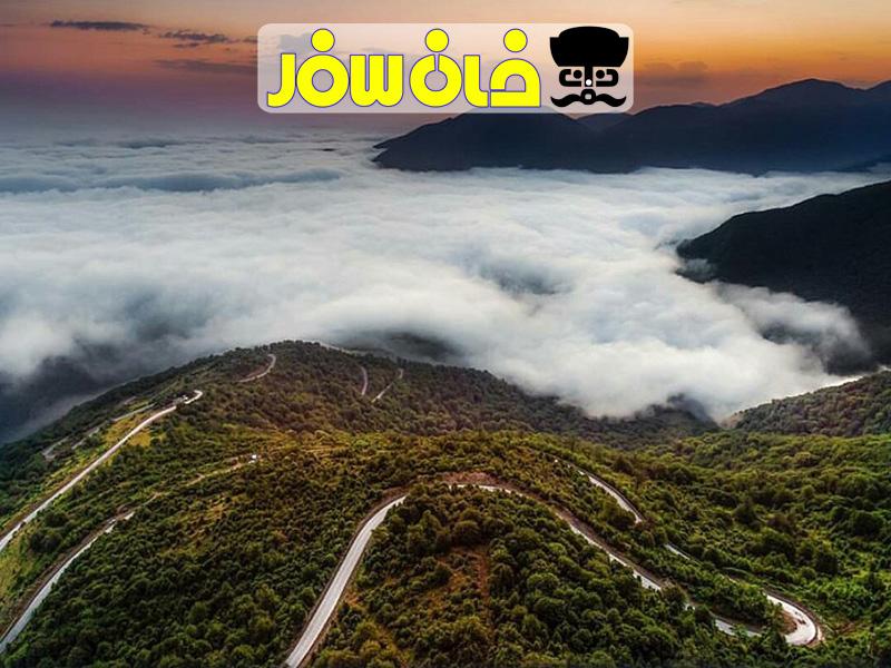 جاده جنگلی شاهرود | Iran jungle road shshrood| خان سفر آژانس مسافرتی غزال پرواز اصفهان
