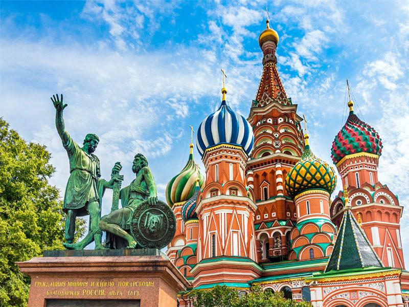 کلیسای سنت باسیل مسکو روسیه